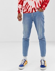 Brooklyn Supply Co. Co Cropped Slim Fit Jeans In Light Blue Wash