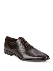 Versace Leather Dress Shoes Brown