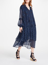 And Or Joanie Print Dress Indigo