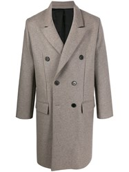 Zadig And Voltaire Mika Wool Coat Neutrals