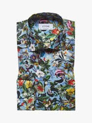 Eton Tropical Flower Print Shirt Multi
