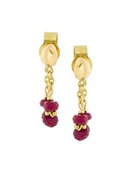 Natasha Collis Ruby Loop Earrings Metallic