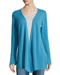 Minnie Rose Cashmere Open Front Duster Cardigan Cendre Bleu