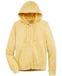 American Rag Men's Washed Fleece Zip Hoodie With Pockets Only At Macy's Yellow