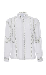 Luisa Beccaria Embroidered Blouse White