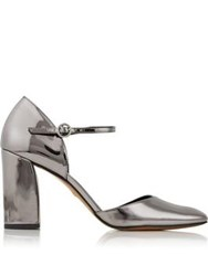Whistles Jackson Mirrored Mary Jane Shoes Silver