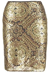 Anna Field Pencil Skirt Gold