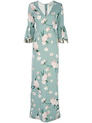 Sachin Babi And Floral Print Tower Gown Green
