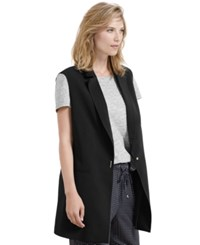 Violeta By Mango Snap Front Vest Black