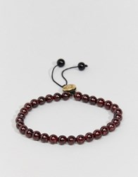 Love Bullets Lovebullets Garnet Bullet Beaded Bracelet In Semi Precious Stone Red