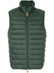 Save The Duck Giga Padded Gilet Nylon Polyester L Green