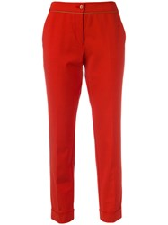Etro Slim Fit Cropped Trousers Red