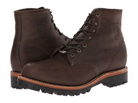 Chippewa 6 Engineer Lace Up Boot Brown Work Boots