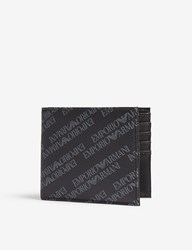 Emporio Armani Logo Leather Billfold Wallet Black