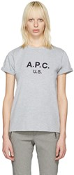 A.P.C. Grey Us Logo T Shirt