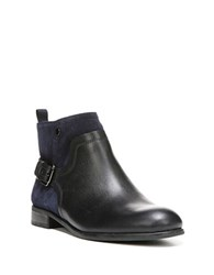 Franco Sarto Marta Leather Ankle Boots Dark Blue