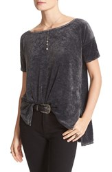 Free People Women's Washed Velvet Tee