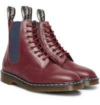 Neighborhood Dr. Martens Filth And Fury Printed Leather Boots Burgundy
