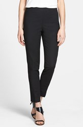 Petite Women's Vince Camuto Side Zip Pants Rich Black
