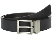 Calvin Klein 32Mm Reversible Flat Strap With Harness Buckle Black Chocolate Men's Belts