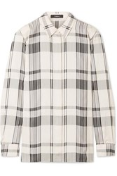 Theory Checked Jacquard Shirt Ivory