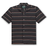 Gitman Brothers Vintage Camp Collar Striped Cotton Shirt Brown