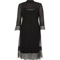 River Island Womens Black Lace Victorian Style Midi Dress
