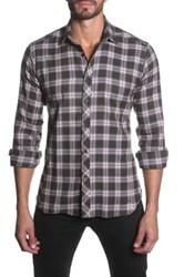 Jared Lang Long Sleeve Plaid Semi Fitted Shirt Multi