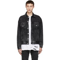 Adaptation Black Roxy Distressed Denim Jacket