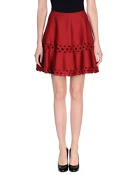 Alaia Knee Length Skirts Maroon