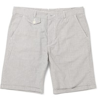 Oliver Spencer Broadstone Slim Fit Striped Cotton Shorts Gray