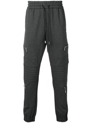 Philipp Plein Drawstring Track Pants Grey