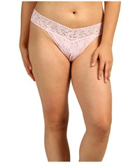 Hanky Panky Plus Size Signature Lace Original Rise Thong Bliss Pink Women's Underwear