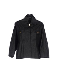 Kiton Denim Outerwear Black