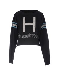 Happiness Sweatshirts Black