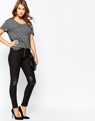 French Connection Glass Stretch Leggings Black