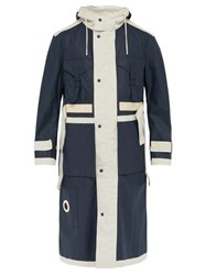 Craig Green Reversible Cotton Twill And Rubber Parka Jacket Navy