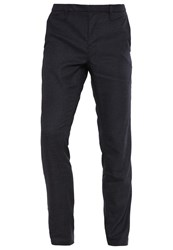 Boss Orange Trousers Navy Dark Blue