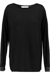 Golden Goose Grosgrain Trimmed Cashmere Sweater Black