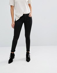 Replay Hyperflex Luz Coated Skinny Jeans Black