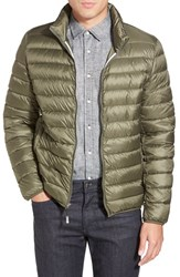 Men's Tumi 'Pax' Packable Quilted Jacket Fatigue Green