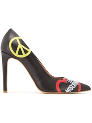 Love Moschino Peace And Pumps Black