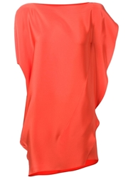 Zero Maria Cornejo Zero Maria Cornejo Asymmetrical Top Yellow And Orange
