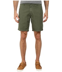 Ag Adriano Goldschmied Wanderer Cotton Linen Blend Shorts In Sulfur Vine Canopy Sulfur Vine Canopy Men's Shorts Olive
