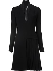 Thierry Mugler Zip Up Flared Dress Black