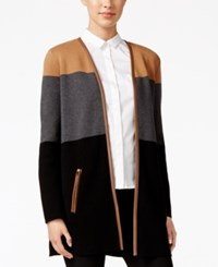 Charter Club Colorblocked Cardigan Only At Macy's Deep Black