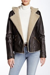 Levi's Fleece Lined Asymmetrical Moto Jacket Brown