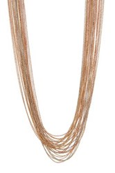 Natasha Accessories Mixed Metal Layered Chain Necklace Multi
