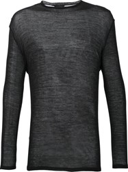 Thamanyah Crew Neck Jumper Black