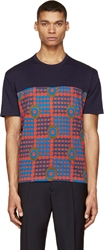Marc By Marc Jacobs Orange Floral Patchwork T Shirt
